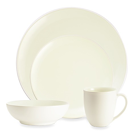 Noritake® Colorwave Coupe Dinnerware Collection in White - Bed Bath ...