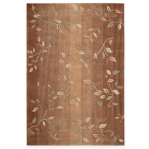 "Nourison Contour 7'3"" x 9'3"" Hand Tufted Area Rug in Cinnamon"