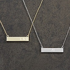 image of Initials Nameplate Necklace