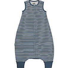 image of Woolino Striped Wearable Blanket in Navy