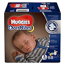 image of Huggies® Overnites Diapers 68-Count Size 3 Big Pack Diapers