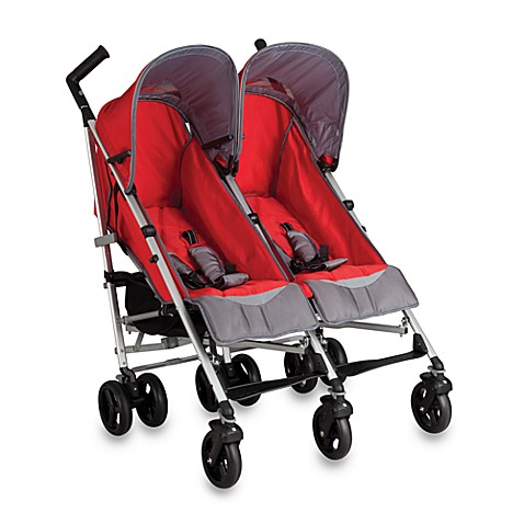 Buy Simmons® Tour DX Side by Side Double Stroller in Red ...
