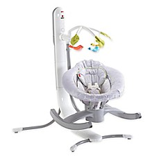image of Fisher-Price® Smart Connect™ 4-in-1 Cradle 'n Swing in Grey