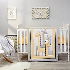 image of Little Love by NoJo® Giraffe Time Crib Bedding Collection in Yellow