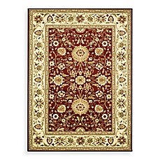 image of Safavieh Lyndhurst Collection Rugs in Red/Ivory