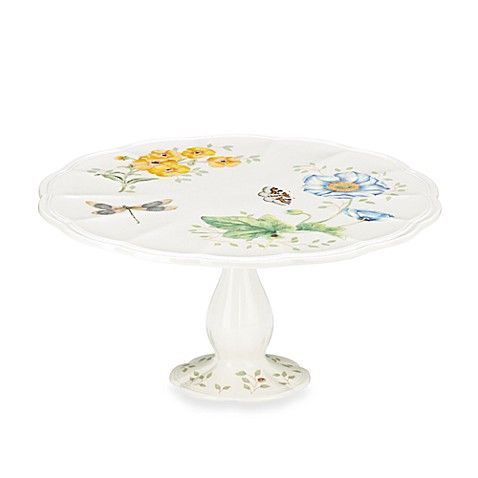Lenox® Butterfly Meadow® Medium Pedestal Cake Plate