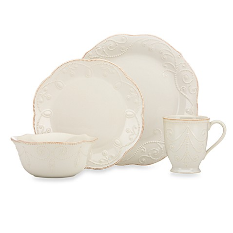 Lenoxu0026reg; French Perleu0026trade; Dinnerware Collection in White  sc 1 st  Bed Bath u0026 Beyond : white french dinnerware - Pezcame.Com