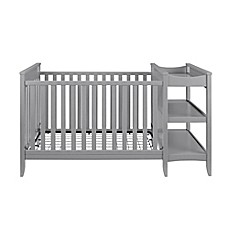 Baby Relax Emma 2 In 1 Convertible Crib And Changing Table Combo In Grey
