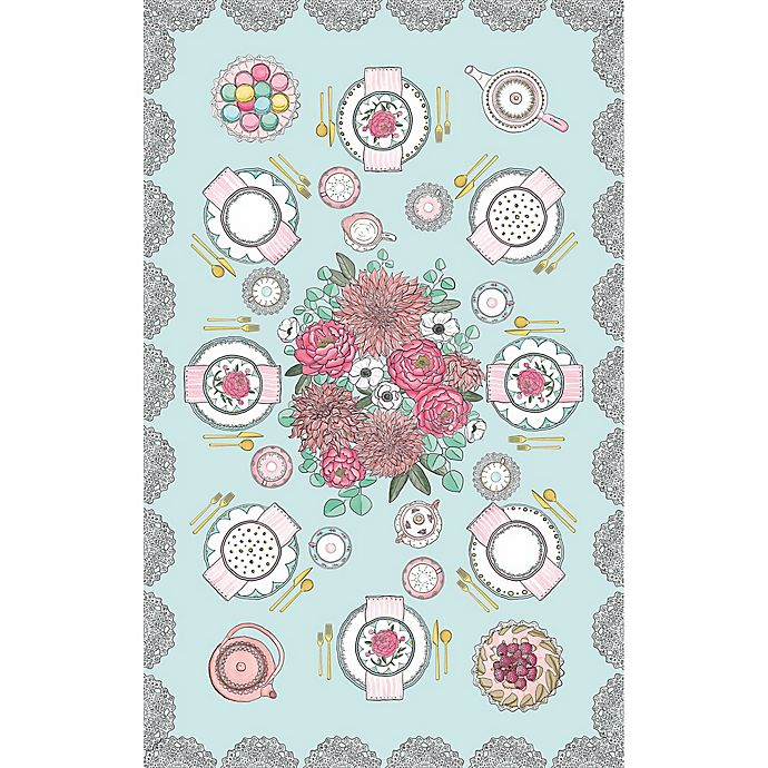 Alternate image 1 for Tinseltot Tea Party Rug Topper in Mint