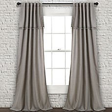 Lush Décor Ivy Tassel 84 Inch Rod Pocket/Back Tab Window Curtain Panel Pair