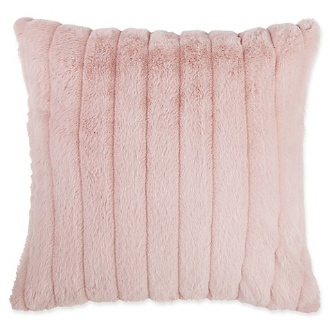 make-your-own-pillow gabrielle faux fur square throw pillow cover in Make Your Own Pillow Design