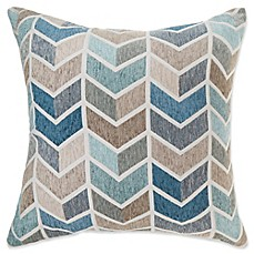 image of Make-Your-Own-Pillow Arrie Square Throw Pillow Cover in Blue