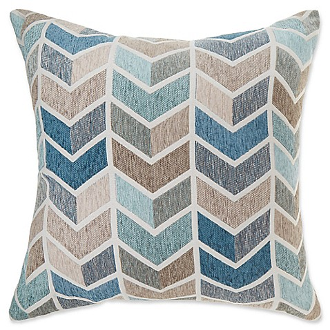 make-your-own-pillow arrie square throw pillow cover in blue - bed Make Your Own Throw Pillow Covers