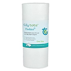 image of Tidy Tots™ Flushies® One Size 100-Count Biodegradable Diaper Liners