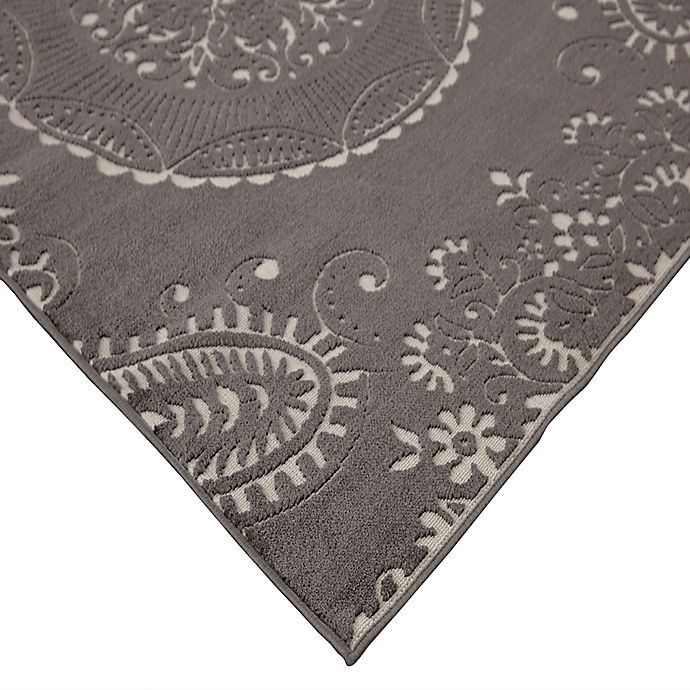 Balta Home Brielle Rug In Grey Bed