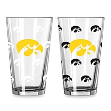 image of University of Iowa Color Changing 16-Ounce Pint Glasses (Set of 2)