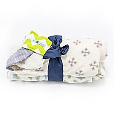 image of Bella Bundles™ 3-Piece Hooded Towel, Blanket, and Bib Gift Set in Cream