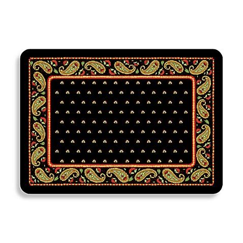 Bungalow Flooring Black Paisley Premium Kitchen Mat Bed