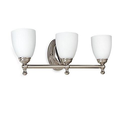Buy bel air lighting opal glass brushed nickel 3 light for Brushed nickel 3 light bathroom fixture