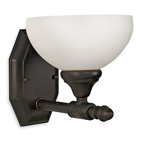 Buy Bel Air Opal Glass Oil Rubbed Bronze Single Light