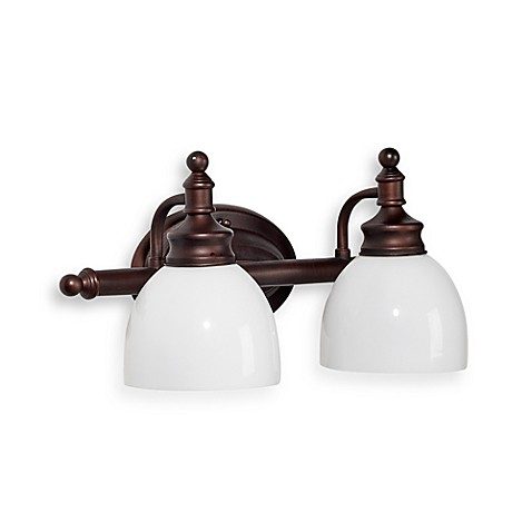 Buy Bel Air Lighting Oil Rubbed Bronze And Opal Glass 2 Light Bath Bar From Bed Bath Beyond