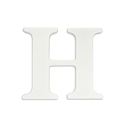 White hanging wall letter h with ribbons buybuy baby for Party wall act letter to neighbour