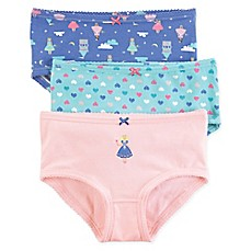 image of carter's® 3-Pack Fairy Underwear in Pink