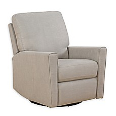image of Abbyson Living® Amber Fabric Swivel Rocker Recliner in Dove Grey