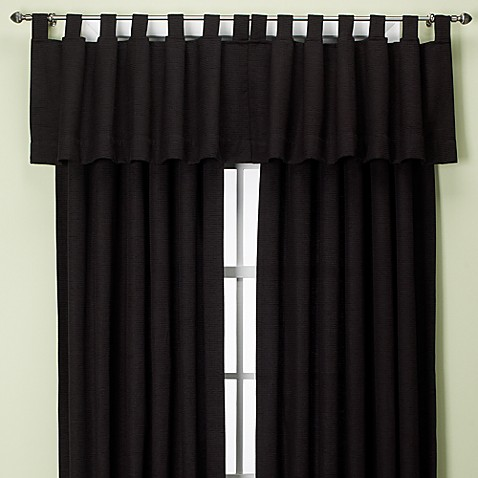 Union Square Tab Top Window Valance in Black