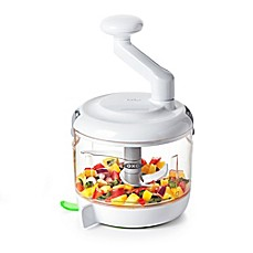 image of OXO Good Grips® One Stop Chop Manual Food Processor in White/Green