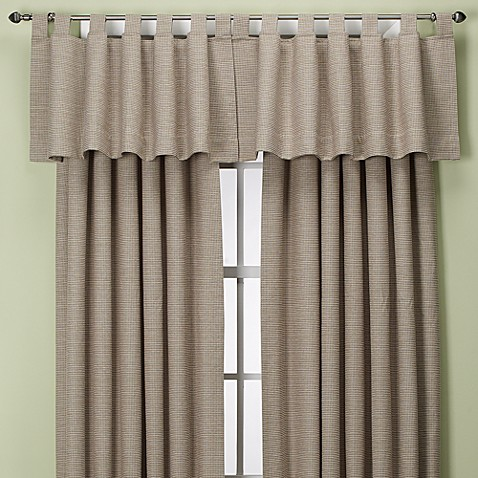 Union Square Tab Top Window Valance in Khaki
