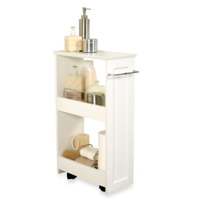India Ink Rolling Storage Bath Shelves in White Bed Bath Beyond