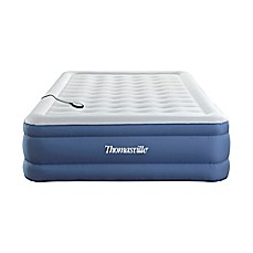 image of Thomasville® Luxury Suite™ Queen Air Mattress in Blue with Built-in Pump