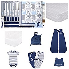 image of The Peanutshell® Little Peanut Navy 11-Piece Sleep Essentials Crib Set
