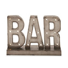image of UMA Bar Metal LED Standing Sign in Gray