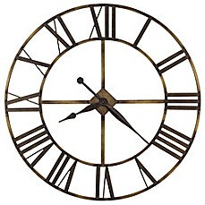 image of Howard Miller Wingate Wrought Iron Wall Clock