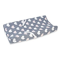 image of Little Love by NoJo® Hugs and Kisses Velboa changing Pad Cover