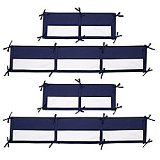 image of Little Love by NoJo® Aztec 4-Piece Crib Liner in Navy