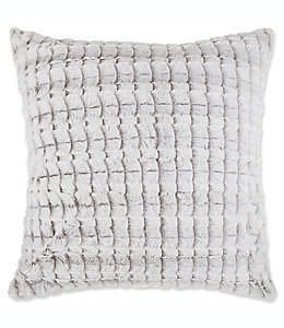 Funda para cojín decorativo Make-Your-Own-Pillow a cuadros, 50.8 cm en gris pardo