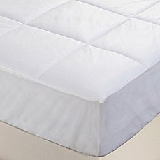 image of Everfresh Antibacterial Water Resistant Mattress Pad in White