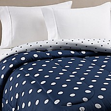 image of Equip Your Space Dotty Comforter in Navy