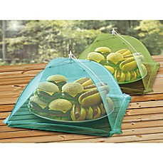 image of Stainless Steel Food Tent in Green and Blue (Set of 2)