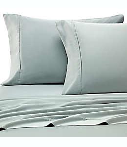 Set de sábanas matrimoniales Pure Beech® satinada 400 hilos finos de tela modal en aqua, 4 piezas