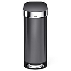 image of simplehuman® Slim 45-Liter Step-On Trash Can with Liner Rim