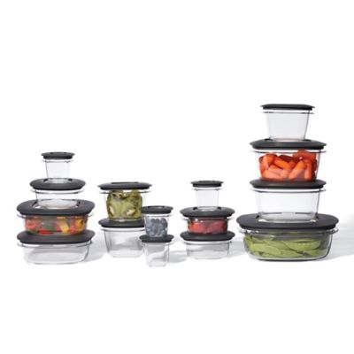 Rubbermaid Premier 30 Piece Food Storage Container Set in Grey