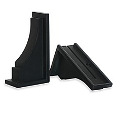 image of Mayne Fairfield Window Box Decorative Supports in Black (Set of 2)