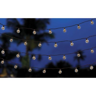50 bulb led café string lights in warm white