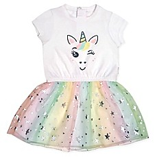 image of Mini Heroes Unicorn Tutu Dress