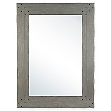 image of Columbia Frame Nailhead 33.5-Inch x 45.5-Inch Rectangular Wall Mirror
