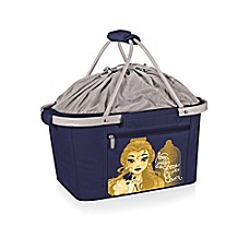 image of Picnic Time® Disney® Beauty & the Beast Metro Basket Cooler Tote in Navy